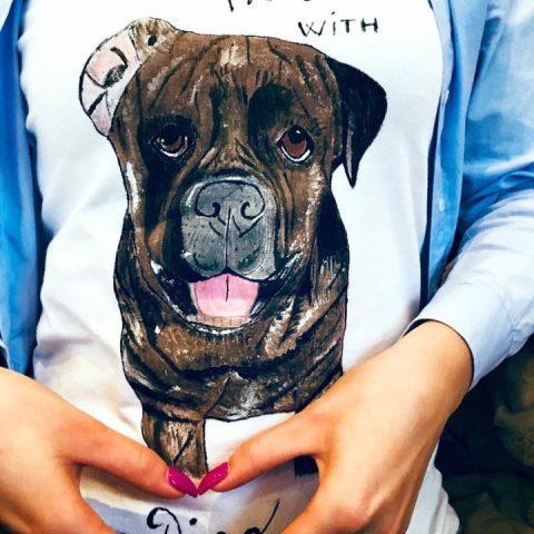 Tricouri de dama pictate